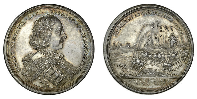 Tsar Peter the Great silver medal