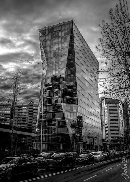 Skyscrapers - Las Condes - July 18 2017 - Dramatic - Topaz - BW