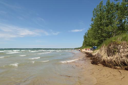 lakeontario sandbanksprovincialpark beach highwater landscape nature shore summer water waves