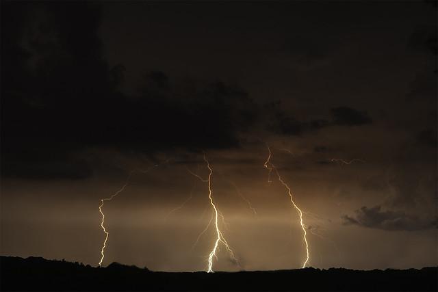 Three Lighting Strikes