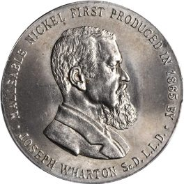 1904 Joseph Wharton International Nickel Company Medal obverse