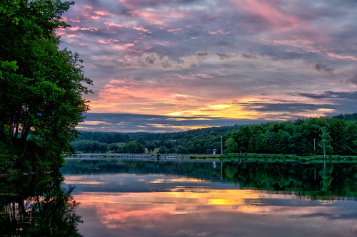 sunrise lake lakemoraine hamiltonnewyork hdr photomatixpro nature water