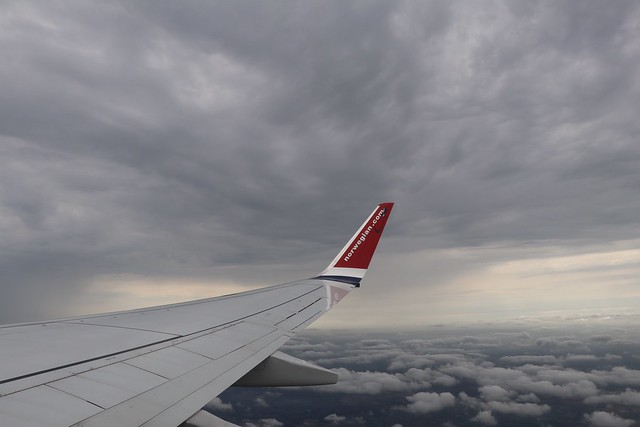 Not the best weather to be flying in. Onboard D82900/EI-FHJ from LGW to CPH 26-7-19 in the remnants of an earlier  thunderstorm