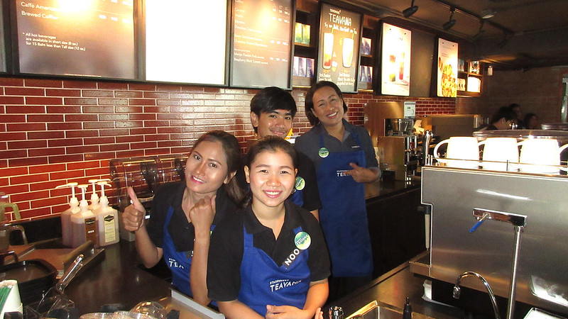 Starbucks Pattaya every morning