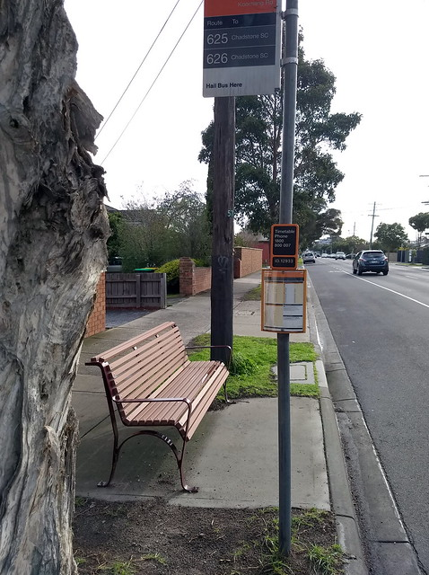 Bus stop, Koornang Road, Carnegie