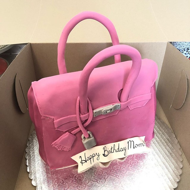 Hermes Bag Cake by Queen T's Cakery