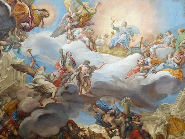 Marcantonio II Colonna présenté à la Vierge dans les cieux