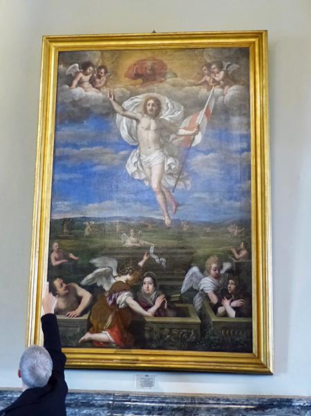 la résurrection de Jésus et de certains membres de la famille COlonna
