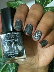 1) Preto Crystal/Avon + Prata/La Femme