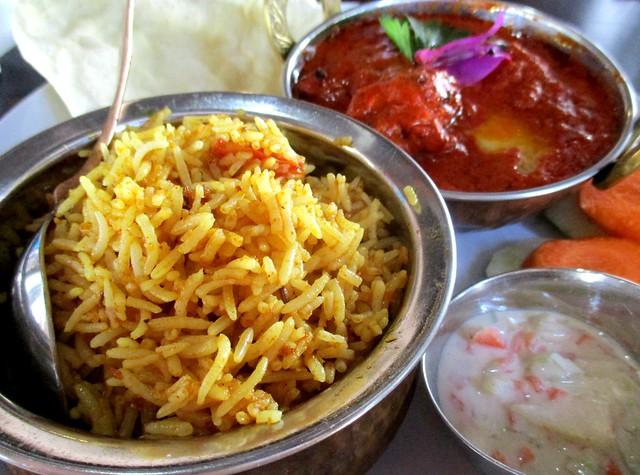 Cafe IND butter tandoori chicken curry biryani