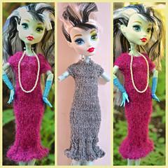 Monster High Picot Dress Knitting Pattern