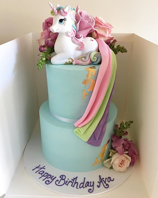 Rainbow Unicorn Cake by Impressions Cake Design