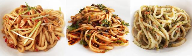 Noodles met een simpele dressing of sausje
