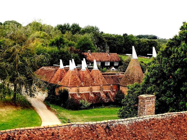 The Oast Houses, Sissinghurst Castle Gardens, Kent, England.