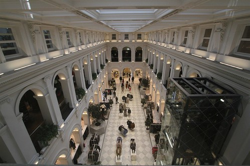 Looking down on the H&M store at the Melbourne GPO