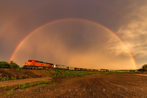bnsfrailway bnsf citirail crex crexes44ac crexlocomotive geac4400cw gees44ac coaltrain coal trains train railfanning railroad railfan railway railroads railroading rail rr railroadtrack rain rainbow landscape colorado coloradorailroads coloradotrains pueblo