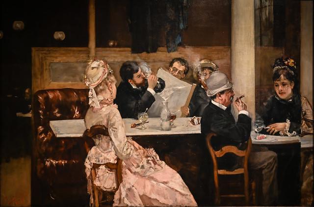 Henri Gervex - Cafe Scene in Paris, 1877 at Detroit Institute of Arts - Detroit MI