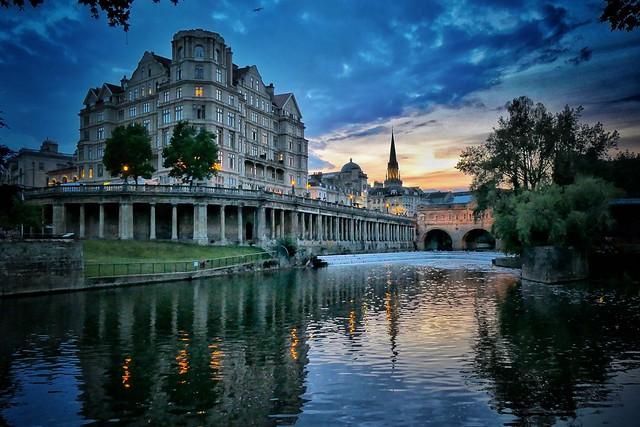 City sunset, Bath
