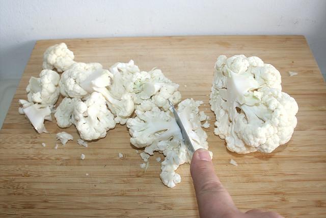 03 - Blumenkohl grob zerkleinern / Hackle cauliflower