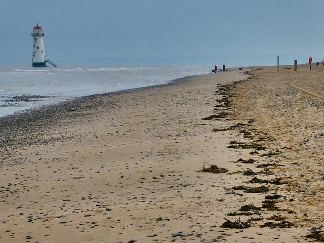 The beautiful but barren Talacre beach #beach #lighthouse #barren #seaside #talacre #wales #dystopia