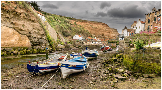 A Stormy Day in Staithes