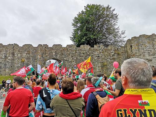 AUOB Cymru march, Caernarfon