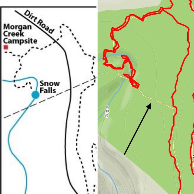 This section of the trail doesn't exist.