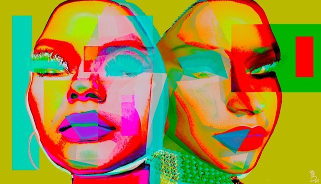 Abstract woman-Ying&Yang