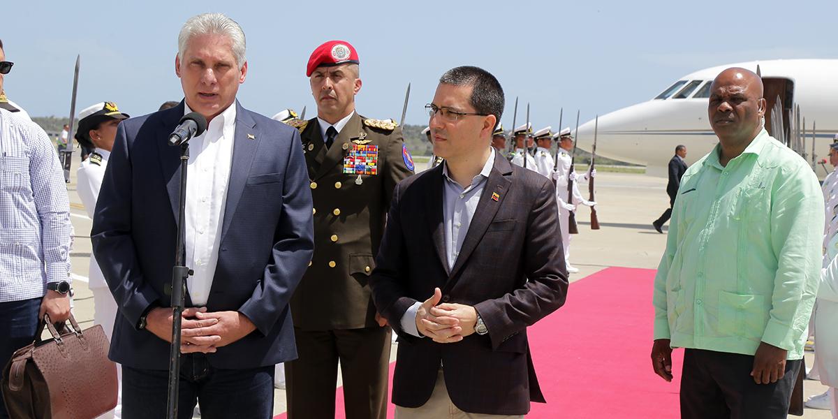 Recibimiento del Presidente de Cuba, Miguel Días Canel