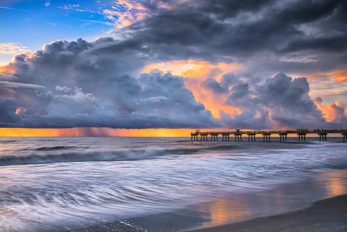 florida jacksonvillebeach sunrise beach shore ocean