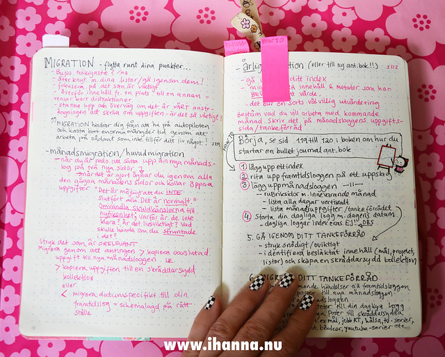 Notes on the Bullet Journal Method (Swedish) by iHanna