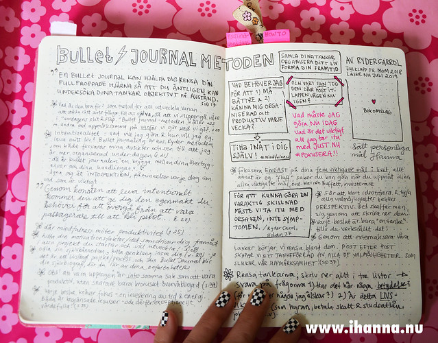Notes on the Bullet Journal Method (swedish) by iHanna #bulletjournal