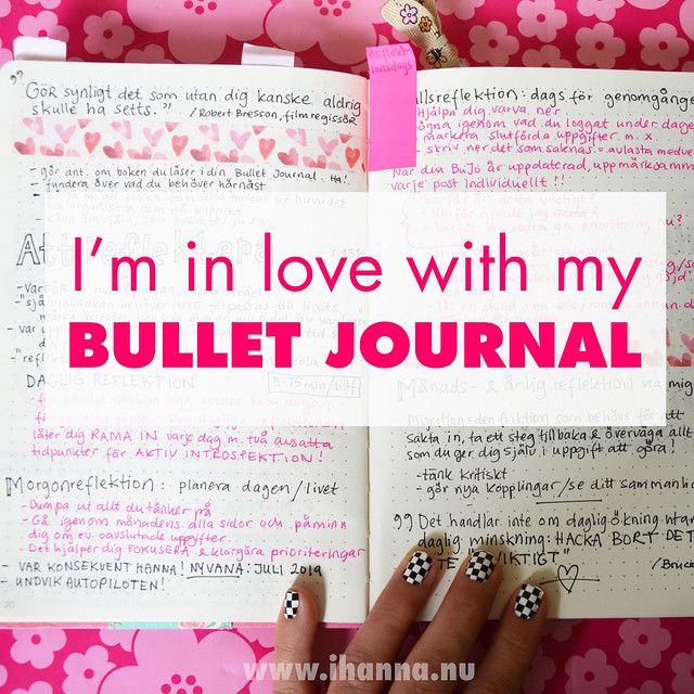 In love with the Bullet Journal Method blog post