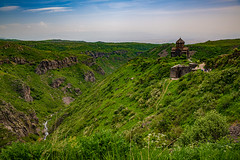 Amberts castle ruin on Aragats mountain, Armenia