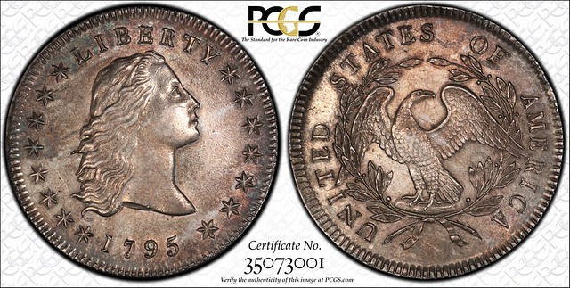 1795 Flowing Hair dollar PCGS-AU55 CCEF