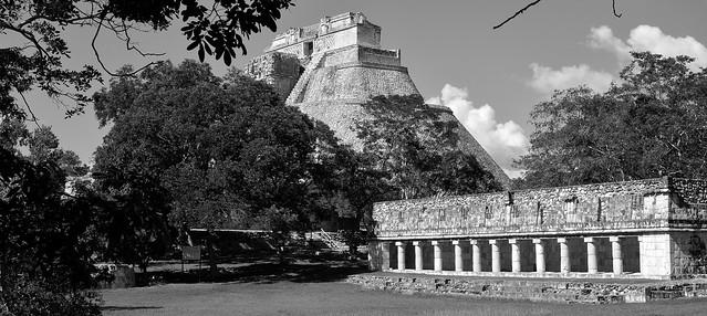 MEXIKO,Yucatán , Uxmal- ehem. Mayastadt ,  Pyramide des Zauberers, 19132/11795
