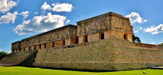 MEXIKO,Yucatán , Uxmal- ehem. Mayastadt ,  Gouverneurspalast, 19136/11799