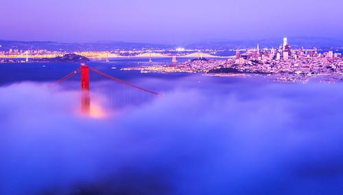 San Francisco, Low Fog, Golden Gate Bridge