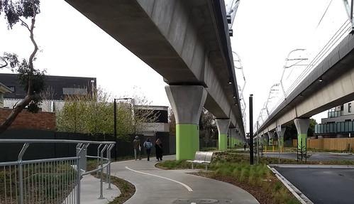 Skyrail - near Carnegie station, looking towards Murrumbeena