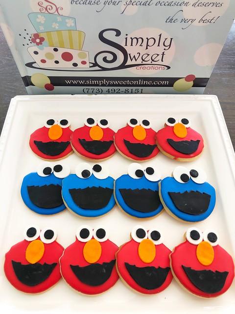 Sesame Street Elmo and Cookie Monster Cookies