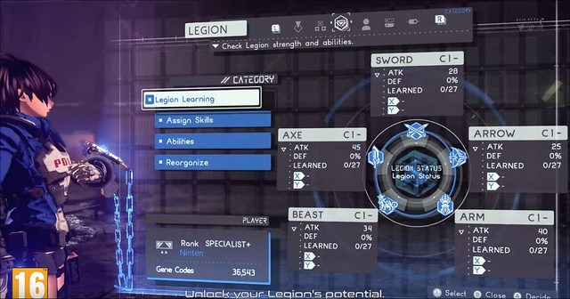 Astral Chain - Legion Upgrades