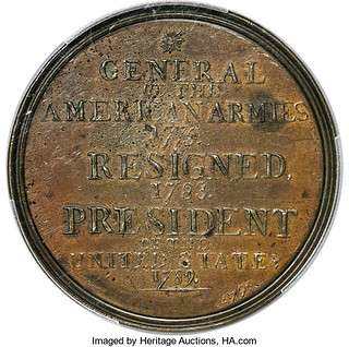1790 Washington Manly Medal reverse