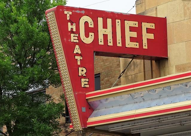 MN, Bemidji-Chief Theatre Neon Sign