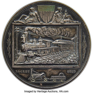 1883 National Exposition of Railway Appliances Medal obverse