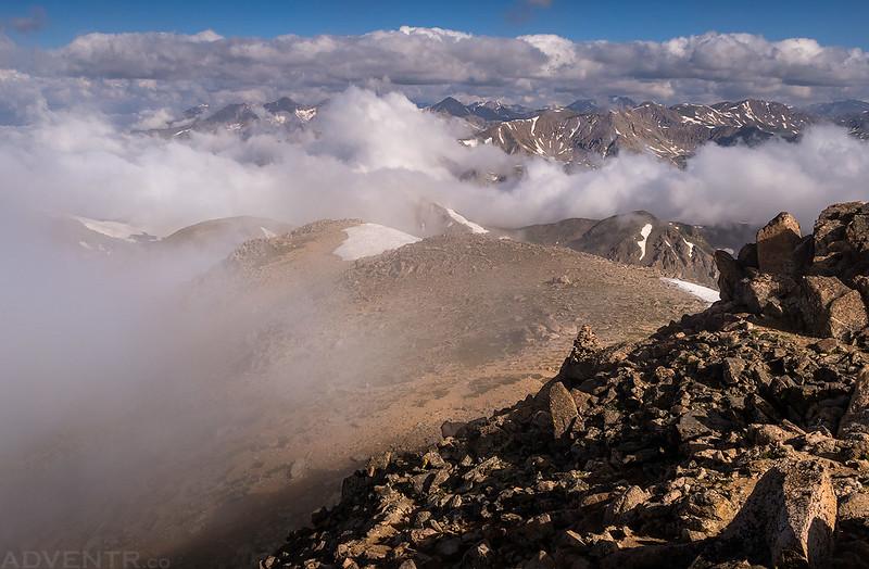 Collegiate Peaks in the Clouds