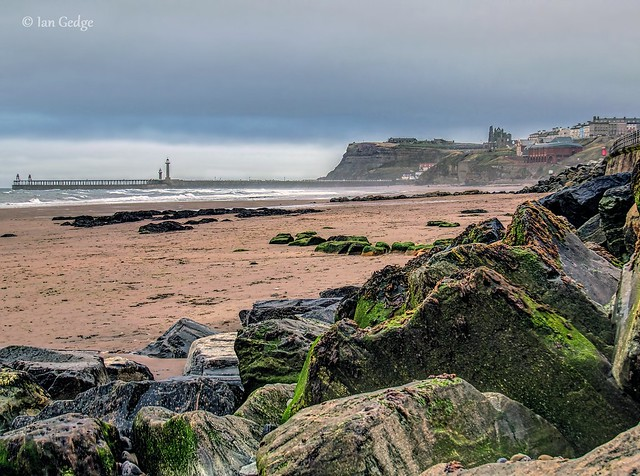 Whitby beach and Harbour