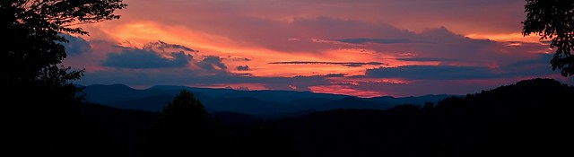 Sunset over North Georgia mountains