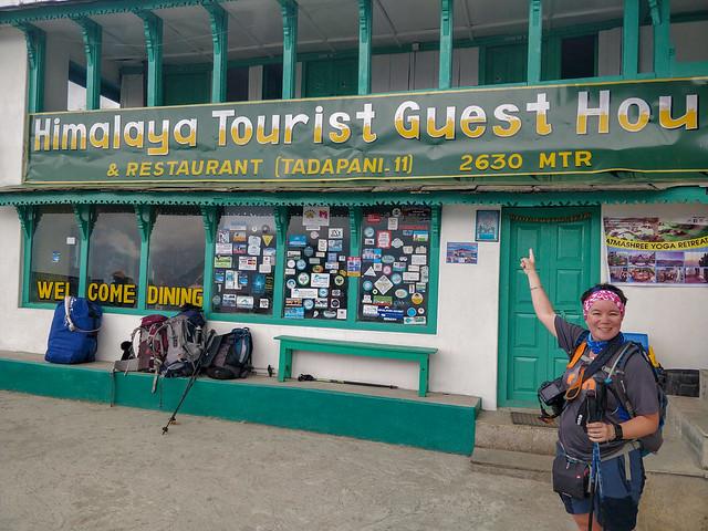 Arrivée à Tadapani, 2630 m