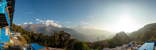 La vue dégagée depuis Tadapani