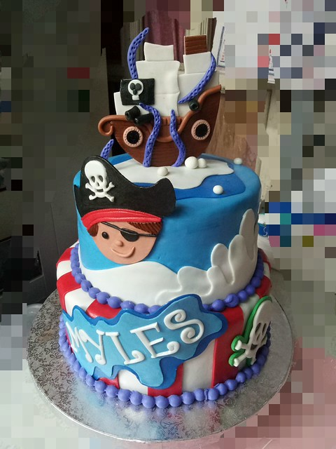 Little Pirate Cake by Milet Pagdanganan of All About Desserts